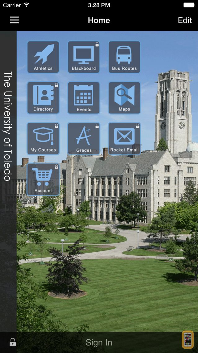 Screenshot - University of Toledo Mobile