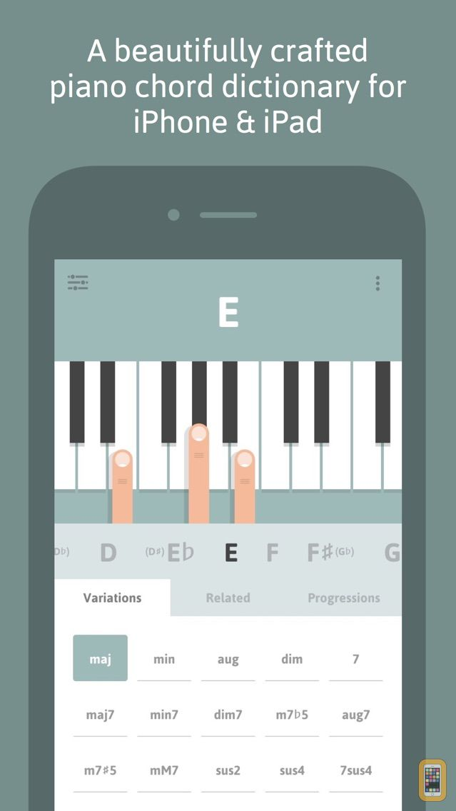Screenshot - Cheeky Fingers - Piano Chord Dictionary, Progressions and Suggestions