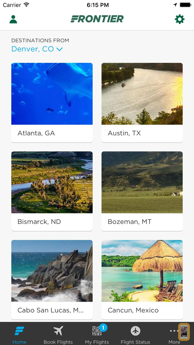 Screenshot - Frontier Airlines