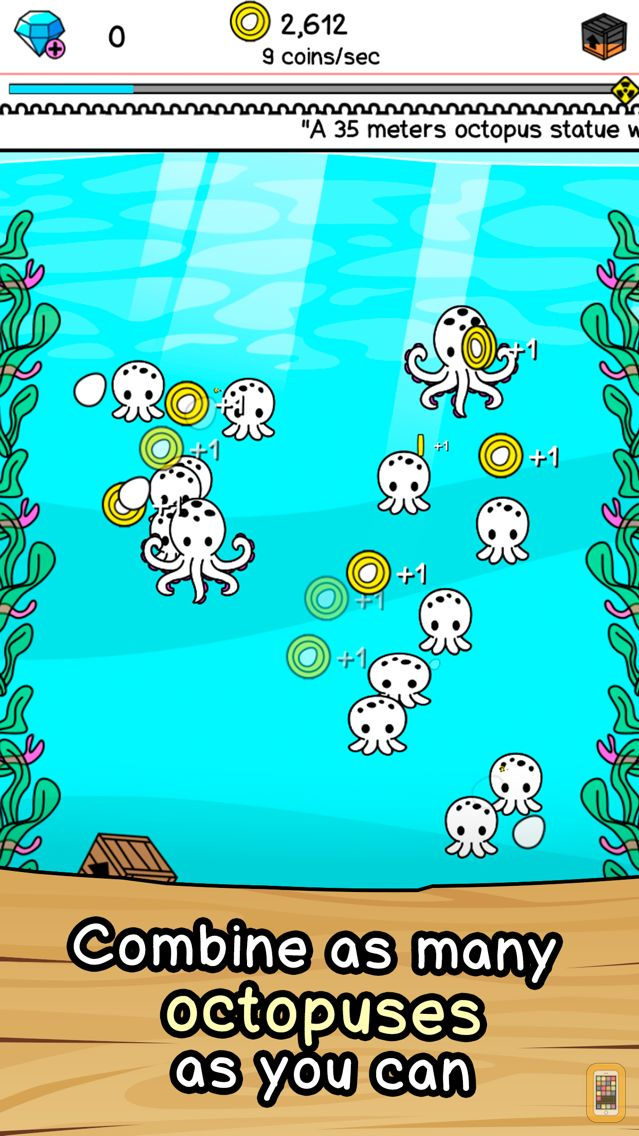 Screenshot - Octopus Evolution | Clicker Game of the Deep Sea Mutants
