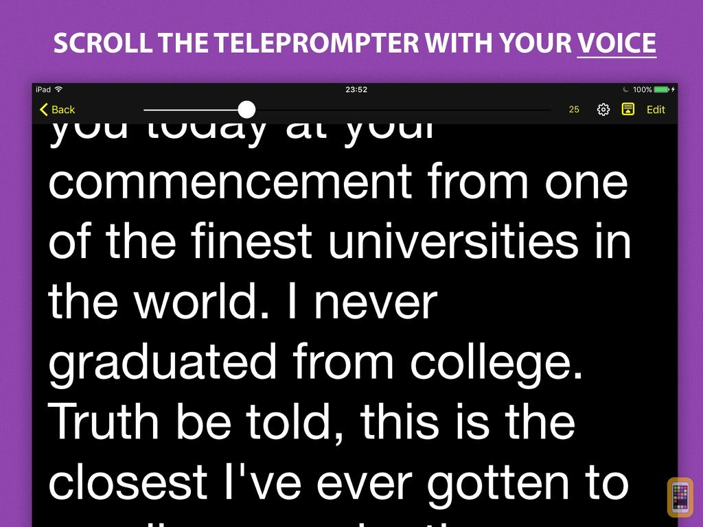 Screenshot - Voice Teleprompter - Speech Prompter with Smart Scrolling