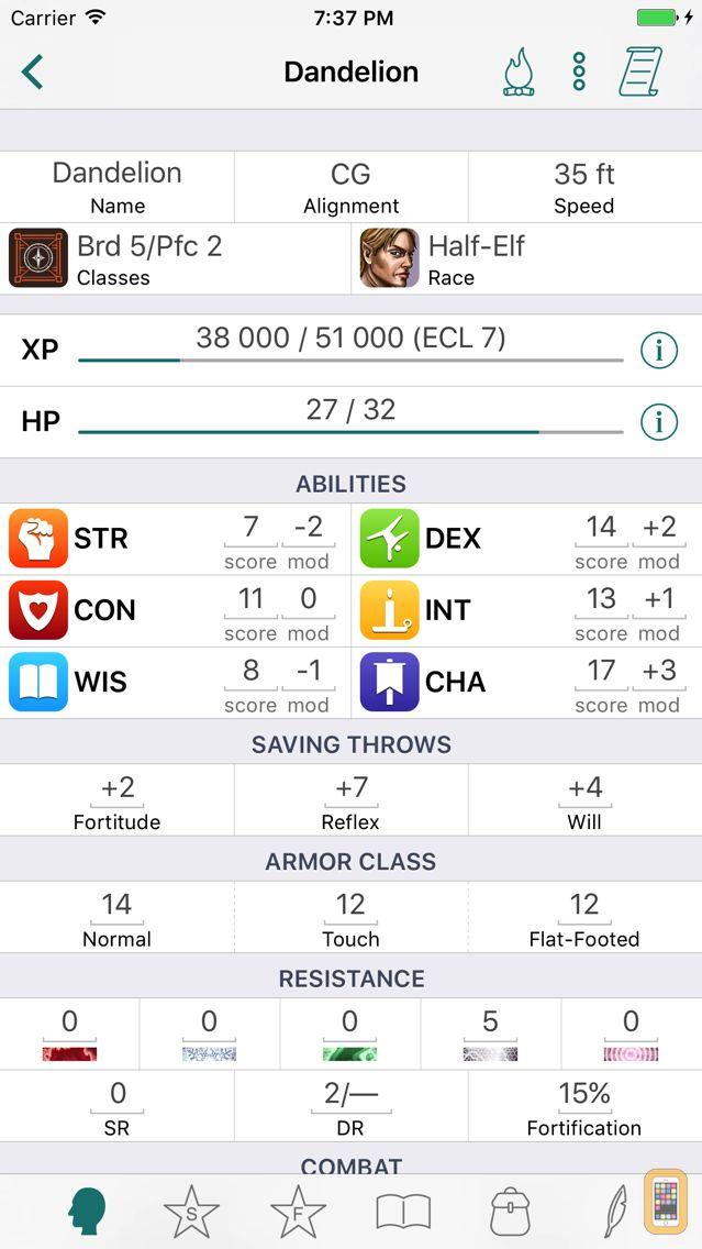 Screenshot - RPG Scribe Pathfinder & 3.5