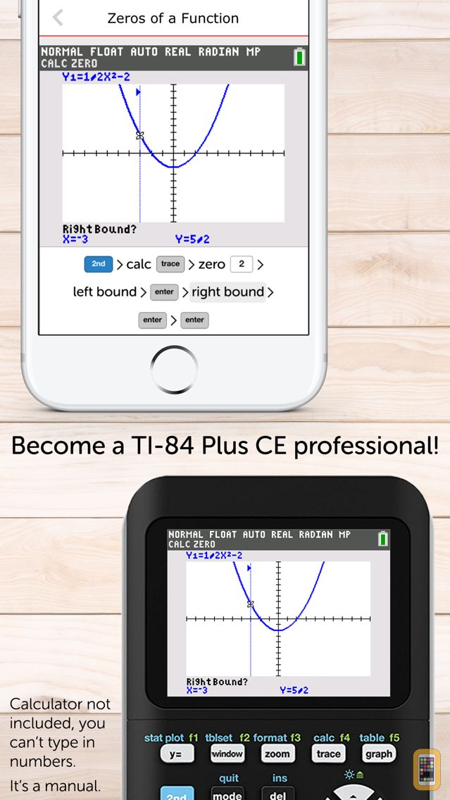 TI-84 CE Calculator Manual for iPhone & iPad - App Info & Stats