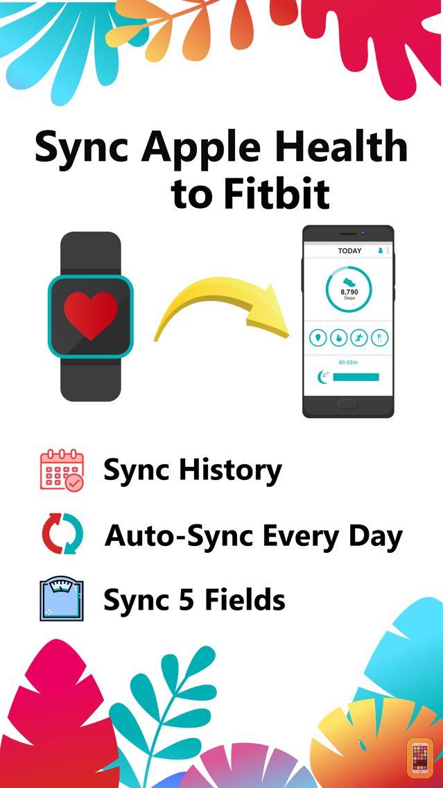 Screenshot - Health App to Fitbit Sync