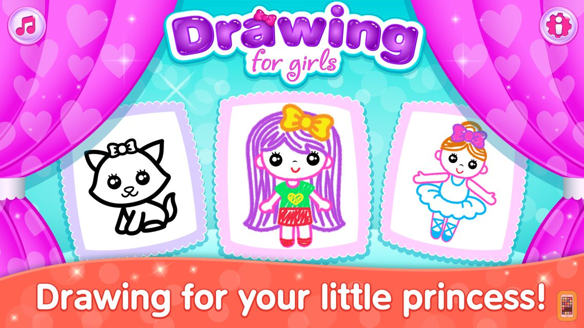 Screenshot - Drawing for Girls! Kids Games!