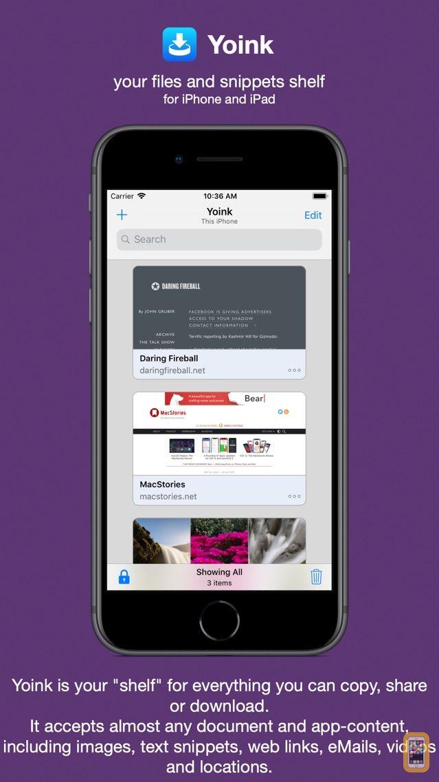 Screenshot - Yoink - Improved Drag and Drop
