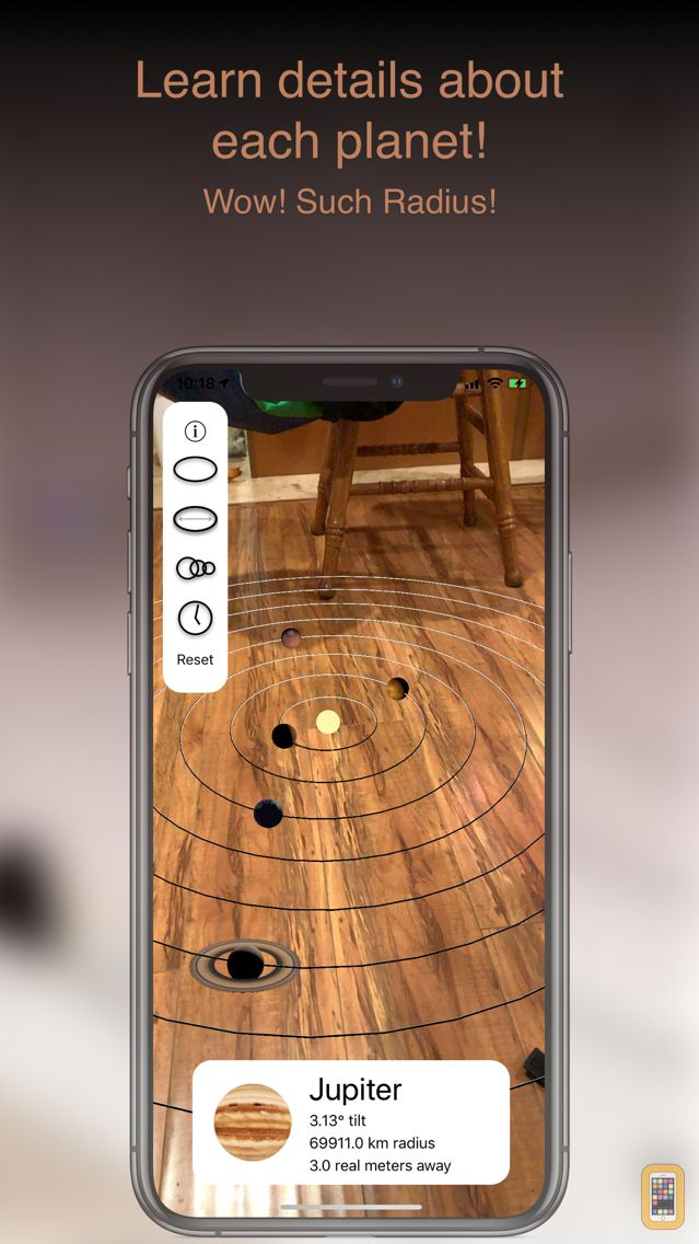 Screenshot - Augmented Reality Solar System