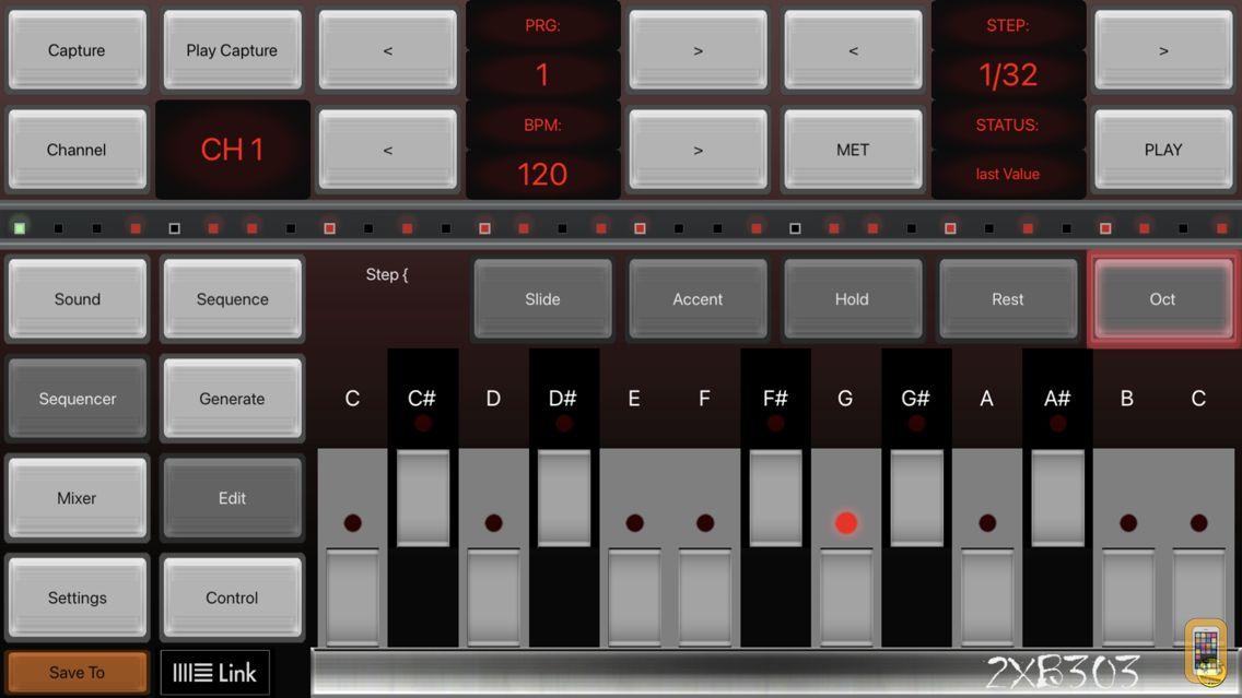 Screenshot - 2XB303 Bass Sequencer EDM-303