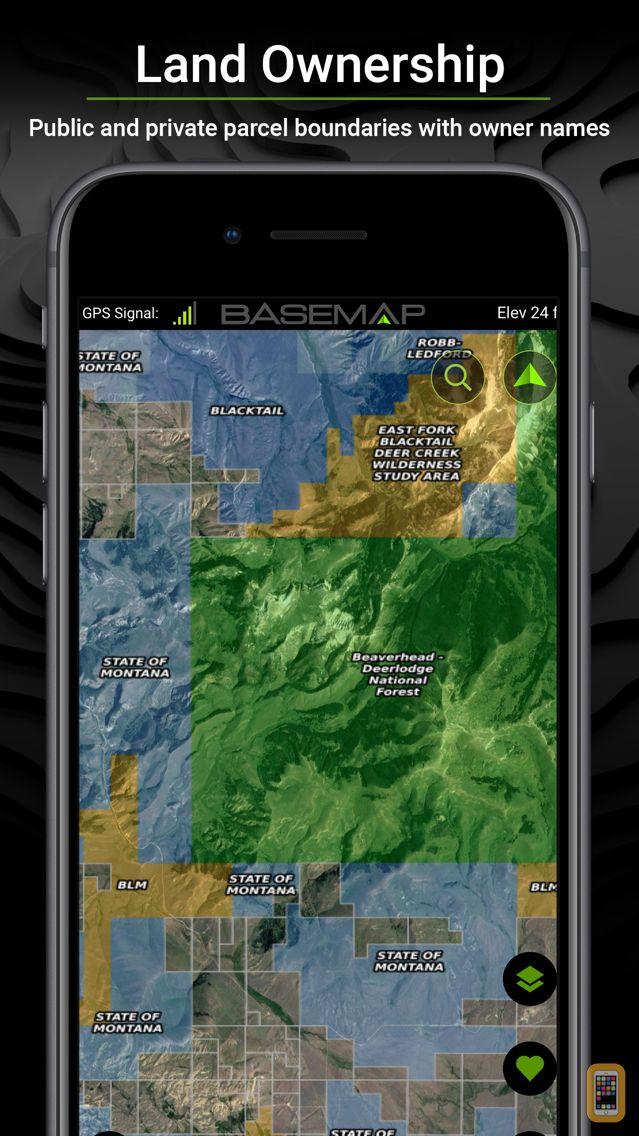 Screenshot - BaseMap: 3D Hiking Hunting Map