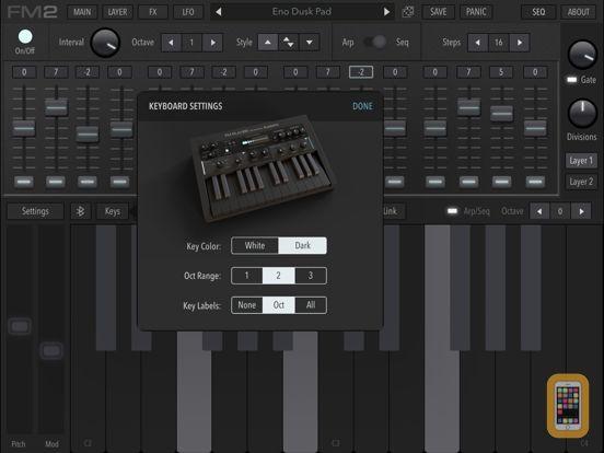 Screenshot - AudioKit FM Player 2: DX + AU