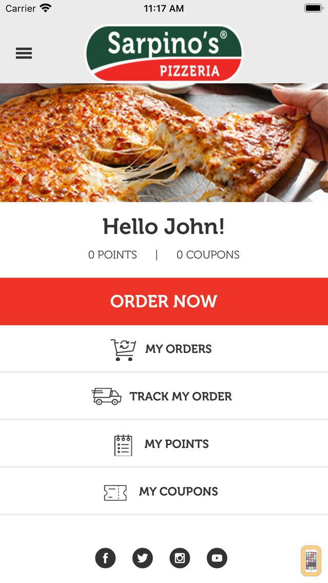 Screenshot - Sarpino's Pizzeria