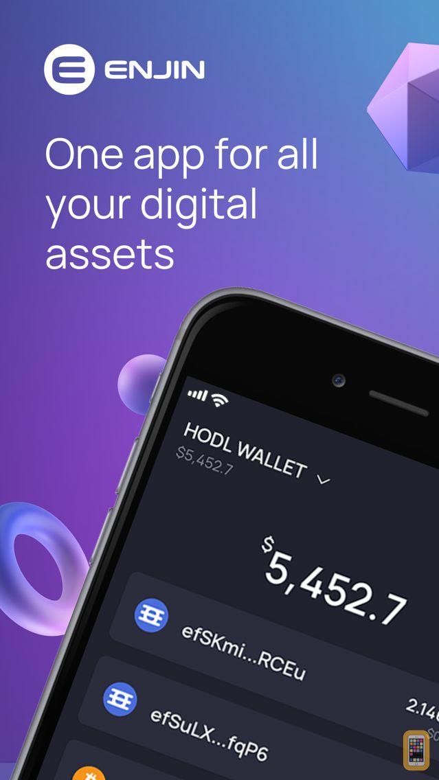 Screenshot - Enjin Crypto Wallet - ETH BTC