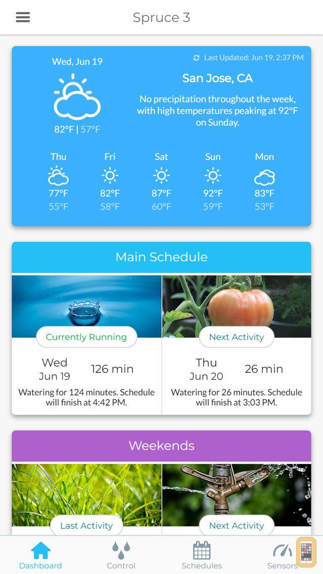 Screenshot - Spruce Irrigation