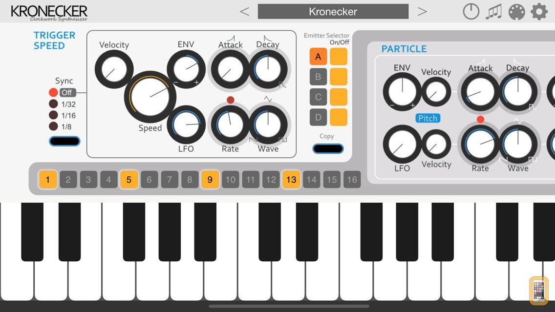 Screenshot - Kronecker Synthesizer