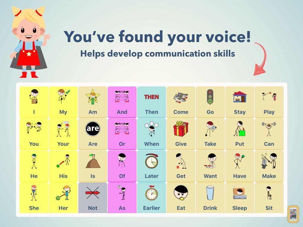 Screenshot - AAC Bestie Speak From Symbols