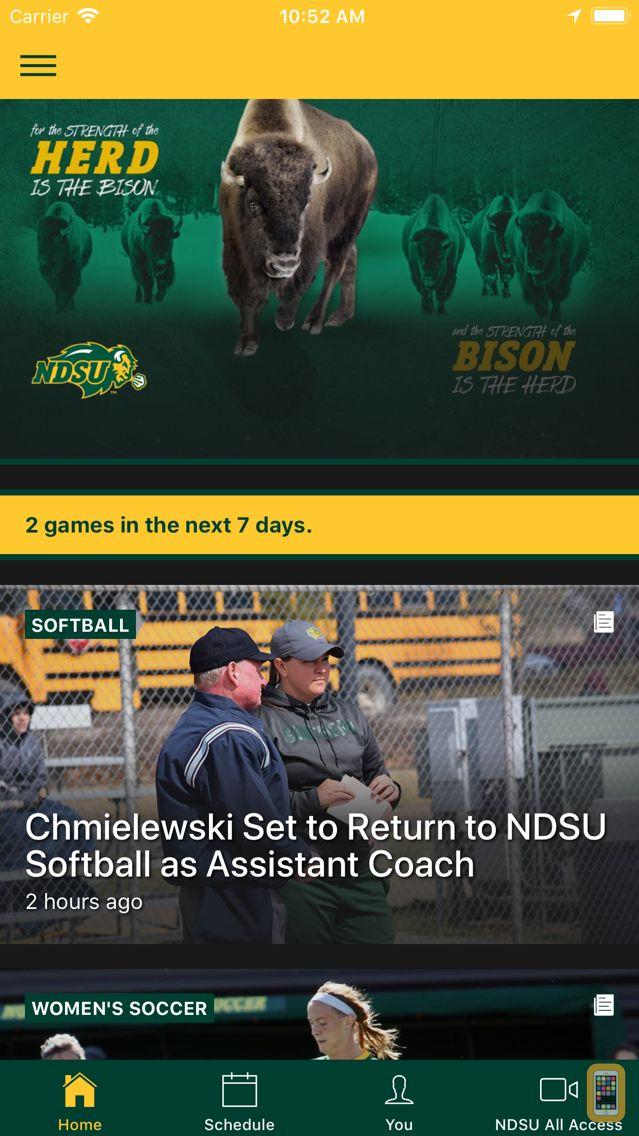 Screenshot - NDSU Athletics