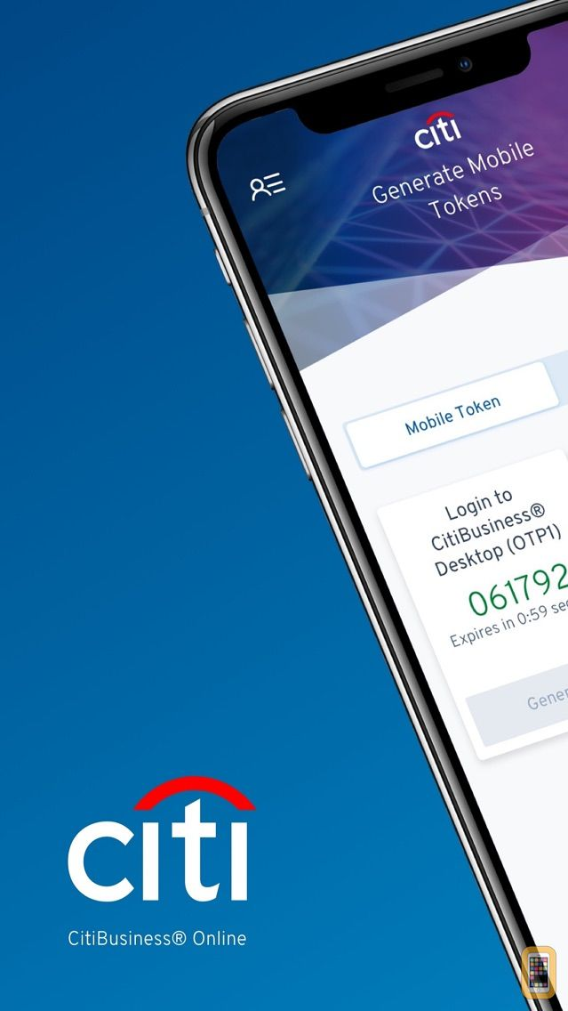 Screenshot - CitiBusiness Mobile