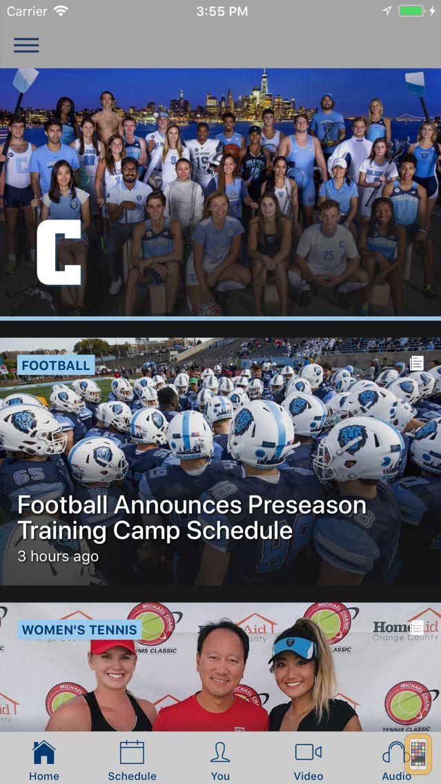 Screenshot - Columbia Athletics