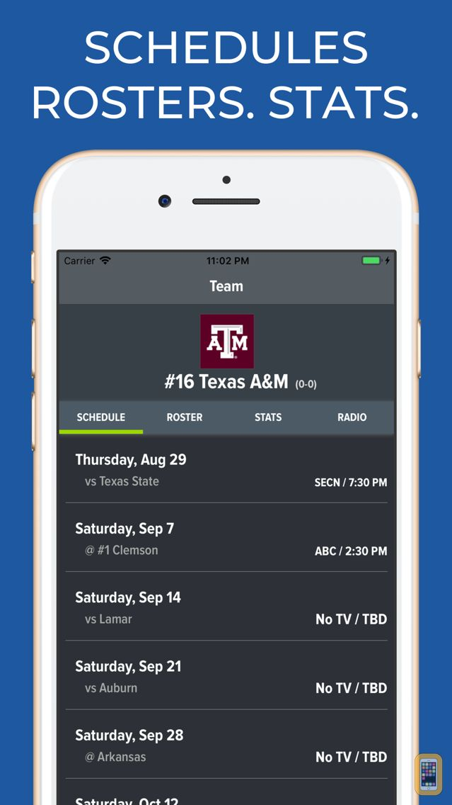 Screenshot - Texas A&M Football Schedules