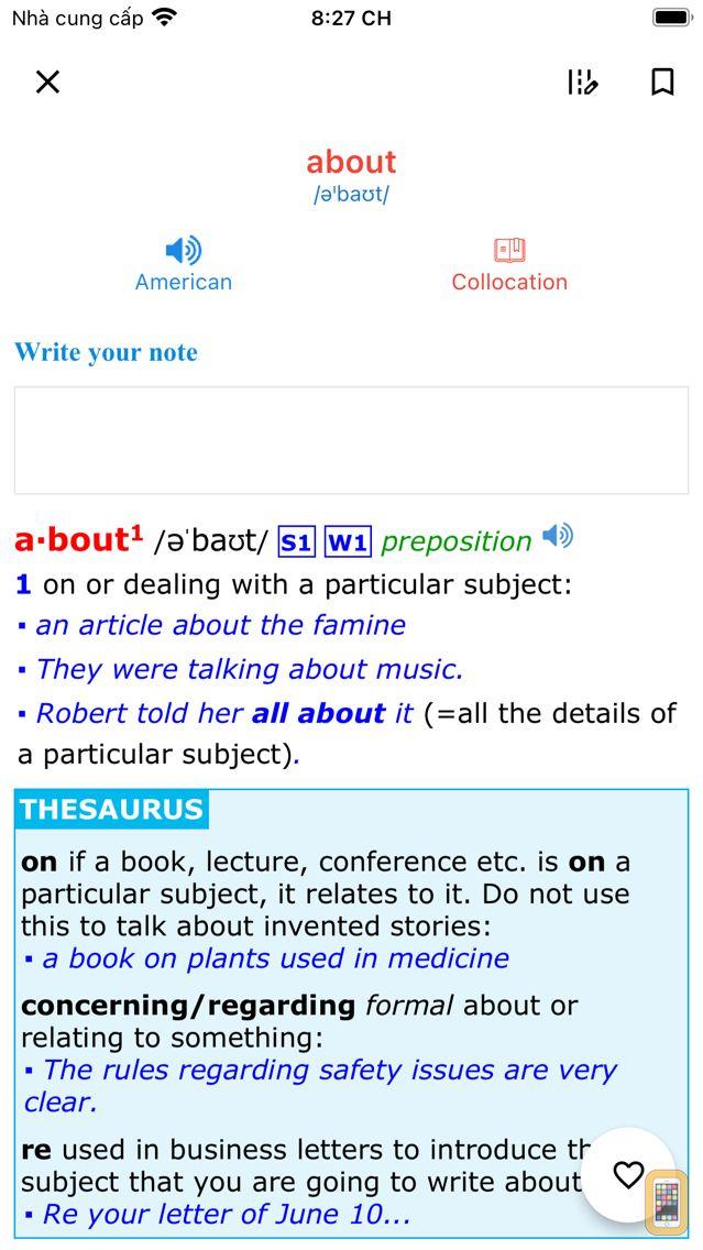 Screenshot - Advanced American Dictionary
