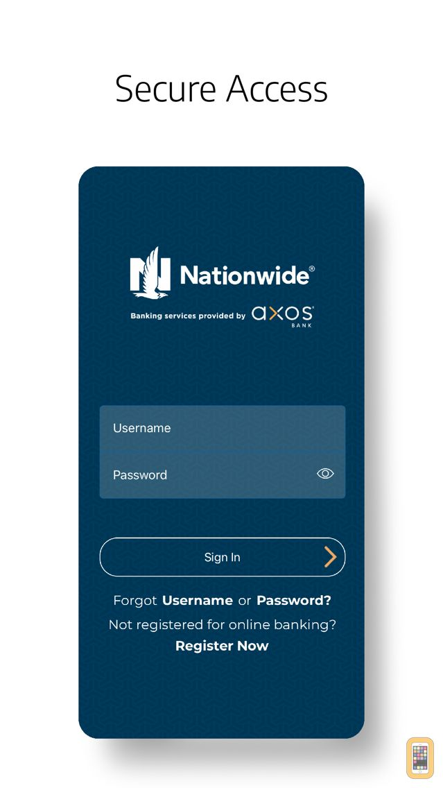 Screenshot - Axos Bank for Nationwide