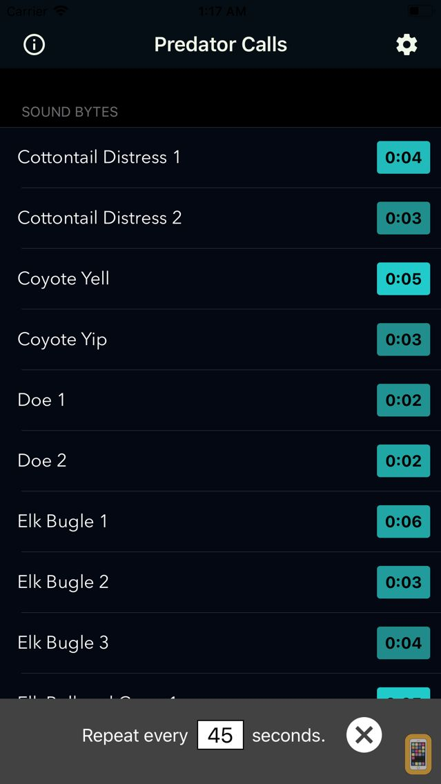 Screenshot - Coyote Calls & Predator Sounds