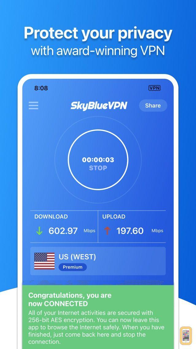 Screenshot - SkyBlueVPN: VPN & WiFi Proxy