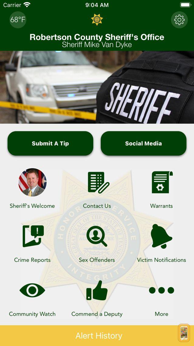 Screenshot - Robertson County Sheriff (TN)