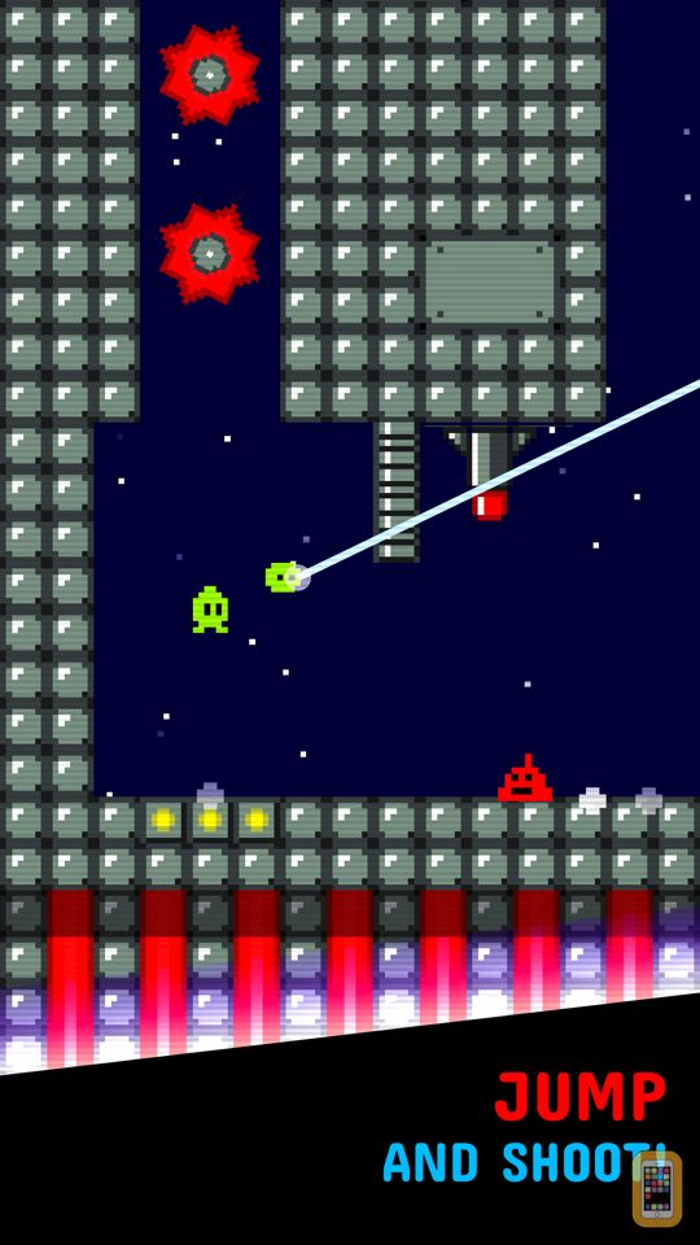Screenshot - Tiny Alien -  Jump and Shoot!