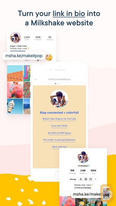 Screenshot - Milkshake - IG Website Builder