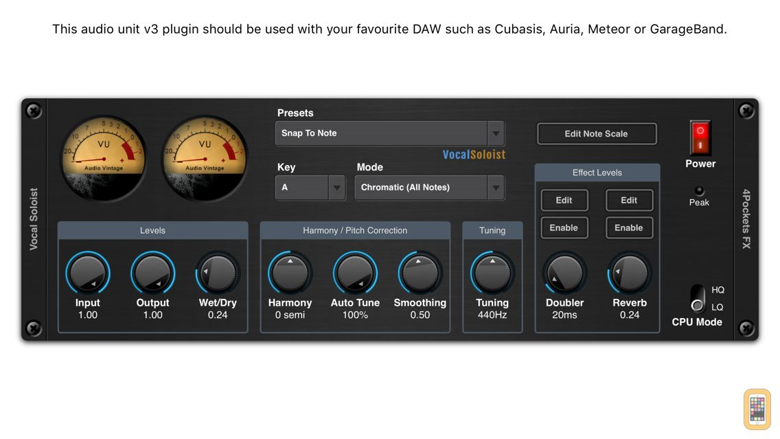 Screenshot - Vocal Harmonizer AUv3 Plugin