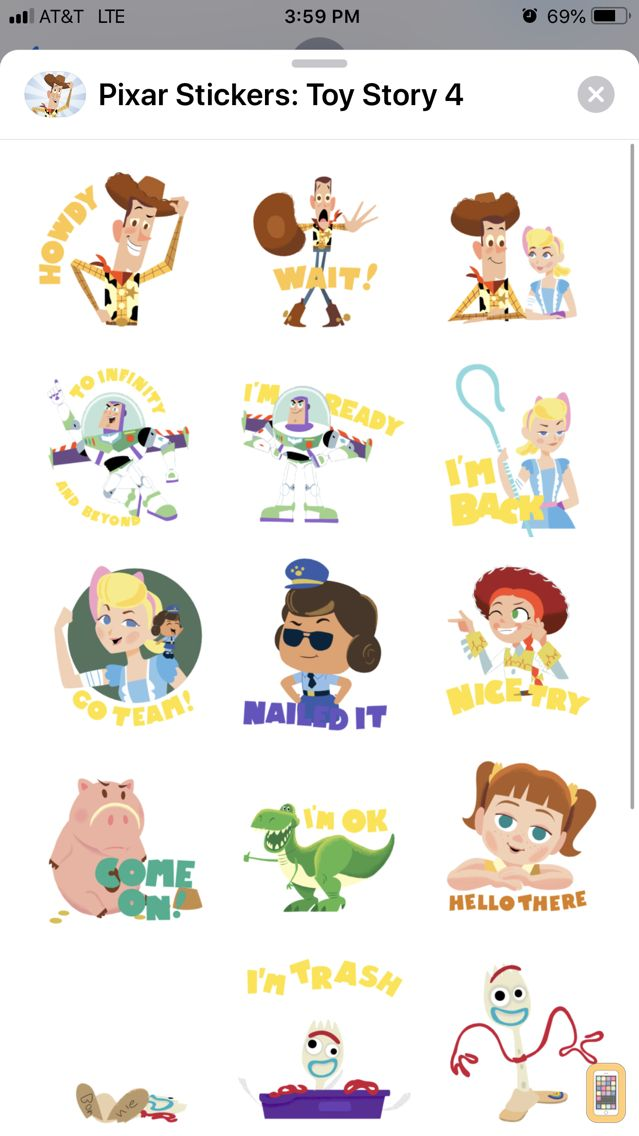 Screenshot - Pixar Stickers: Toy Story 4