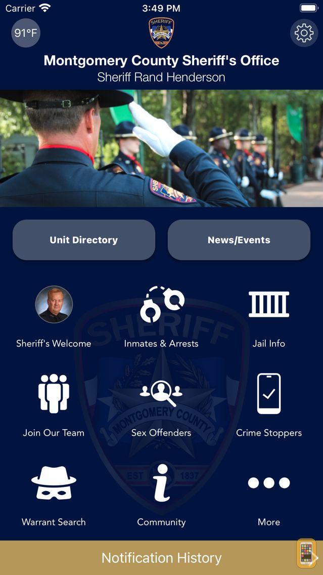 Screenshot - Montgomery County TX Sheriff
