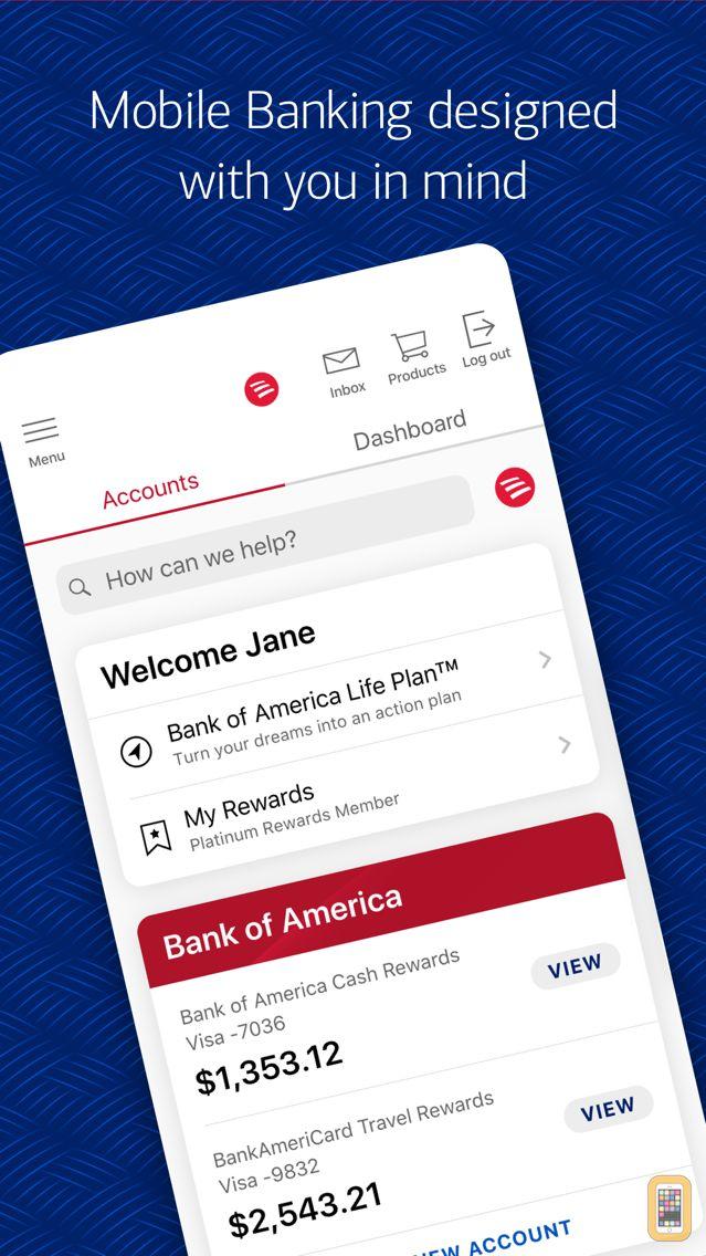 Screenshot - Bank of America Mobile Banking