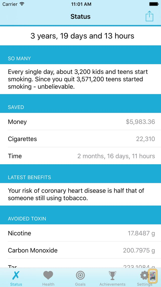 Screenshot - Quit It - stop smoking today