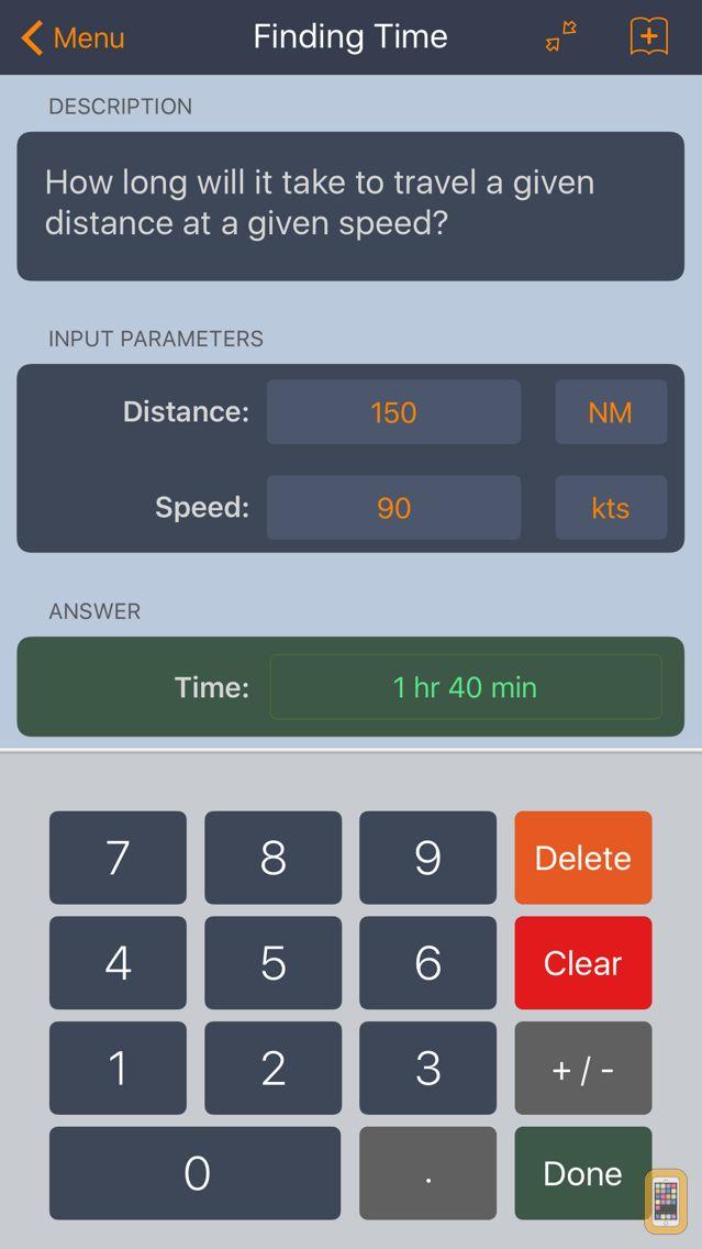 Screenshot - E6B Aviation Calculator