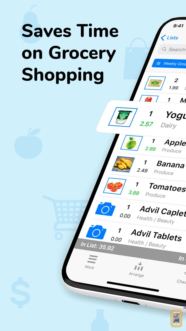 Screenshot - Grocery Gadget Shopping List