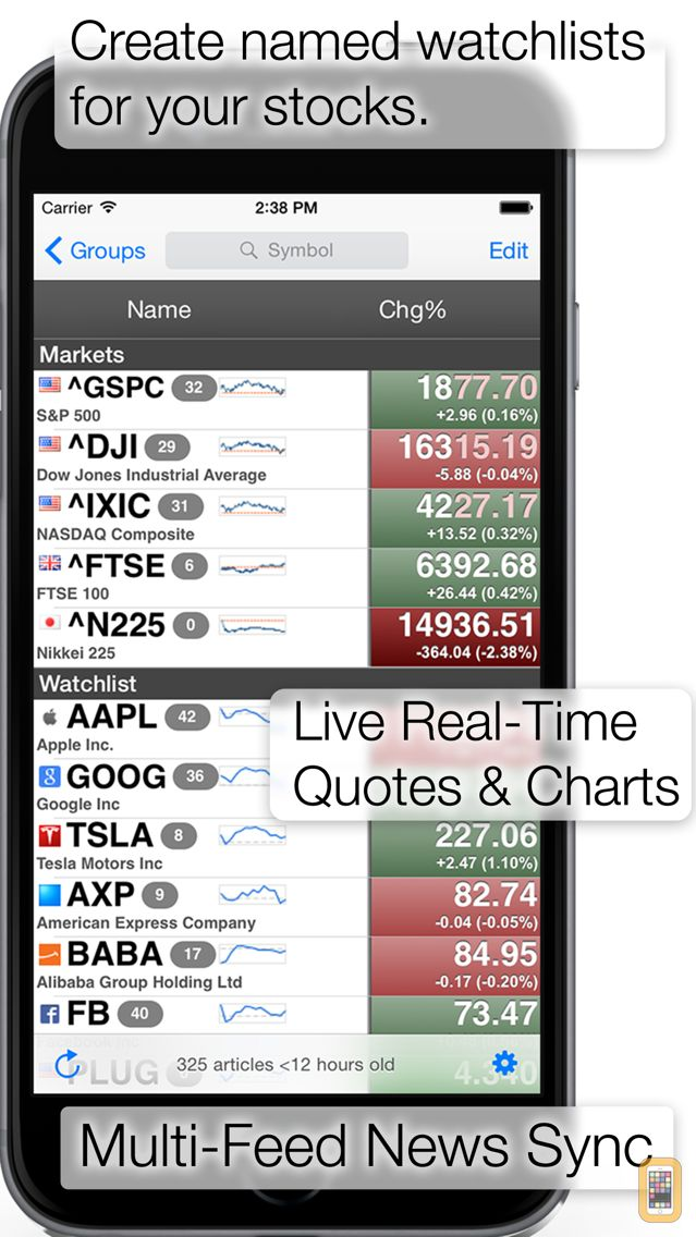 Screenshot - StockSpy: Real-time Quotes