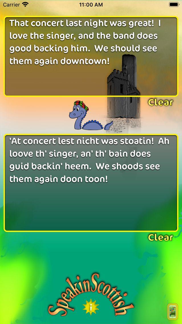 Screenshot - Speakin Scottish