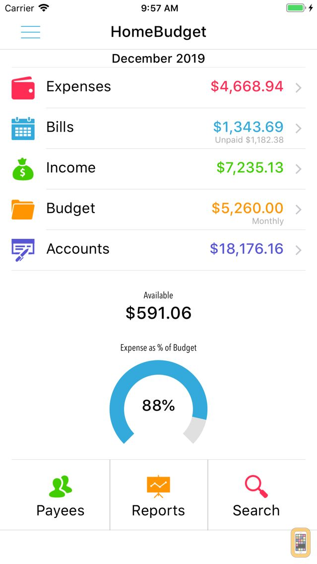 Screenshot - HomeBudget with Sync