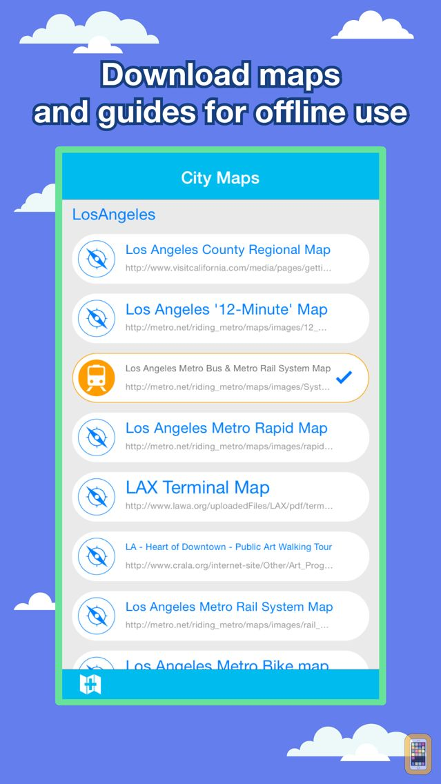 Screenshot - Los Angeles City Maps - Discover LAX MRT & Guides