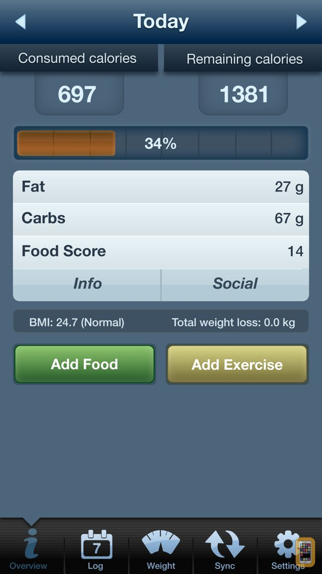 Screenshot - Tap & Track Calorie Counter