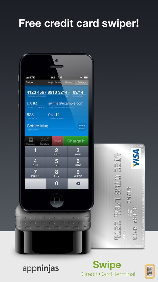 Screenshot - Swipe Credit Card Terminal