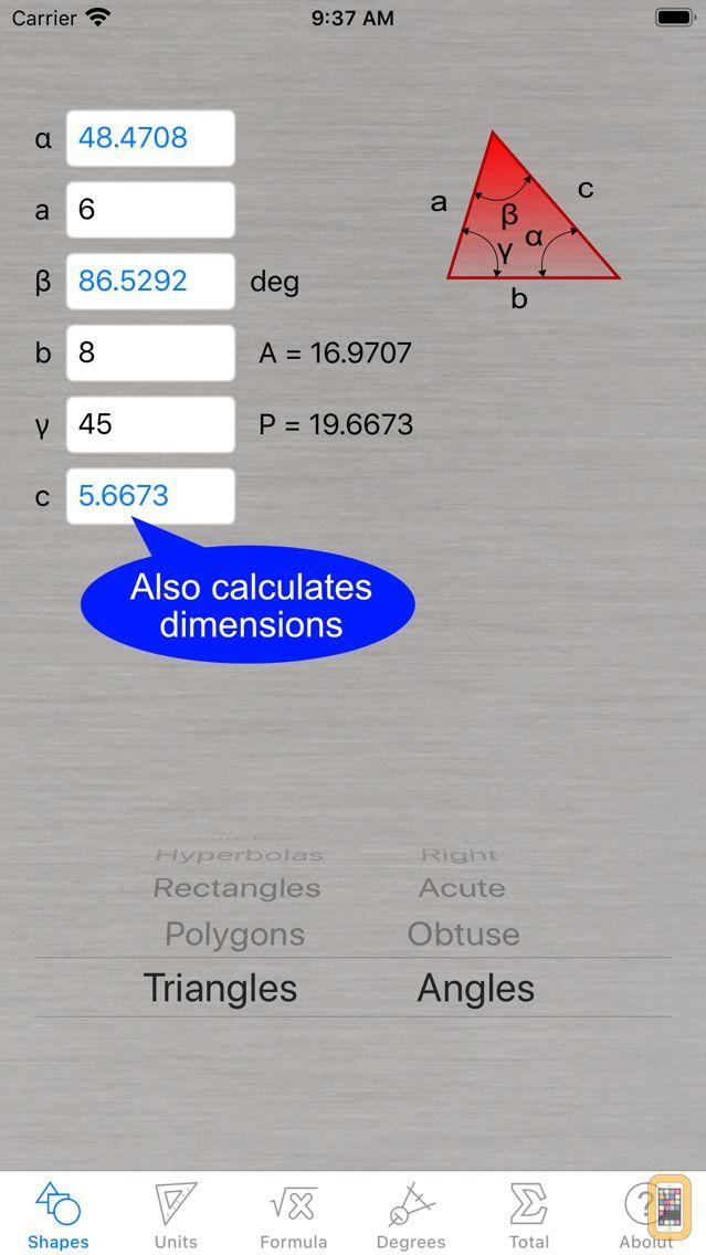 Screenshot - Area Calculator