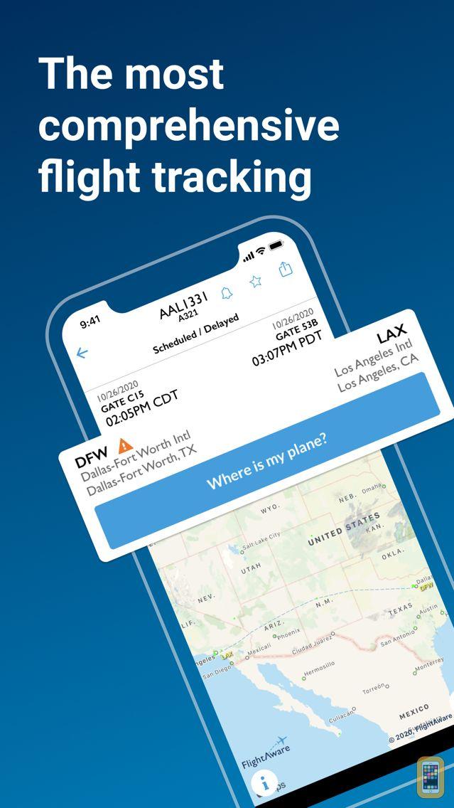Screenshot - FlightAware Flight Tracker