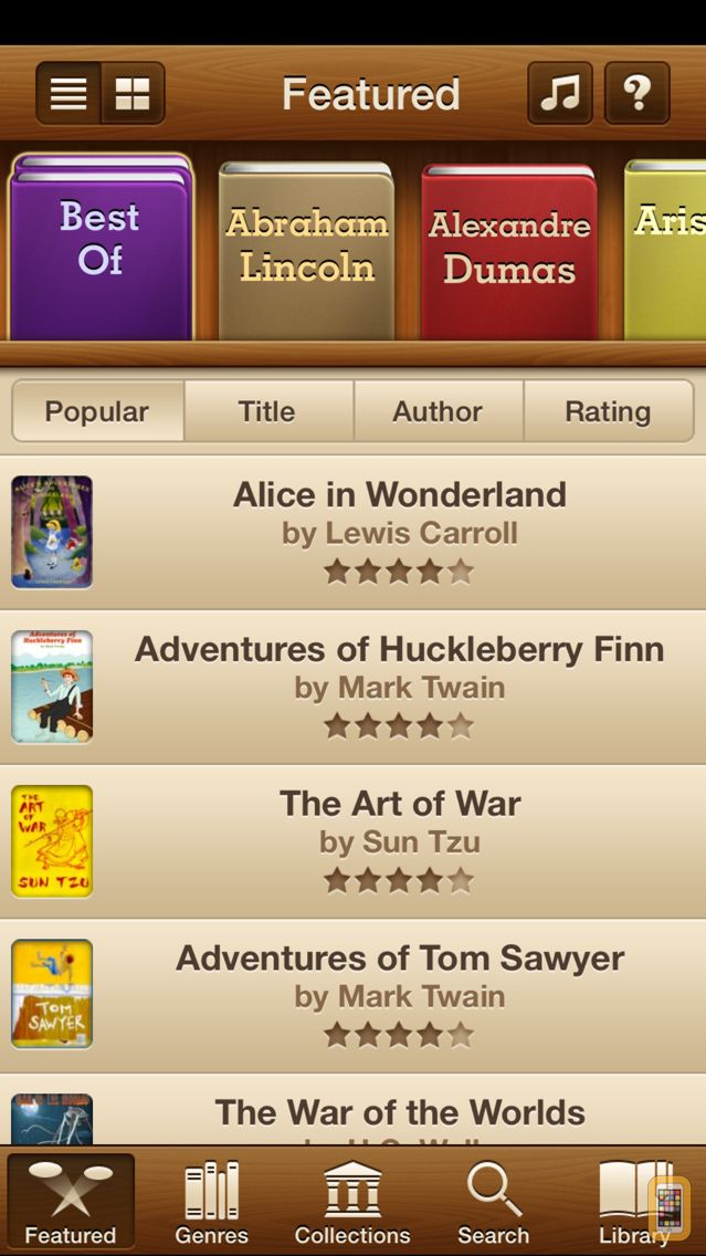 Screenshot - Free Books - 23,469 Classics For Less Than A Cup Of Coffee. An Extensive Ebooks And Audiobooks Library