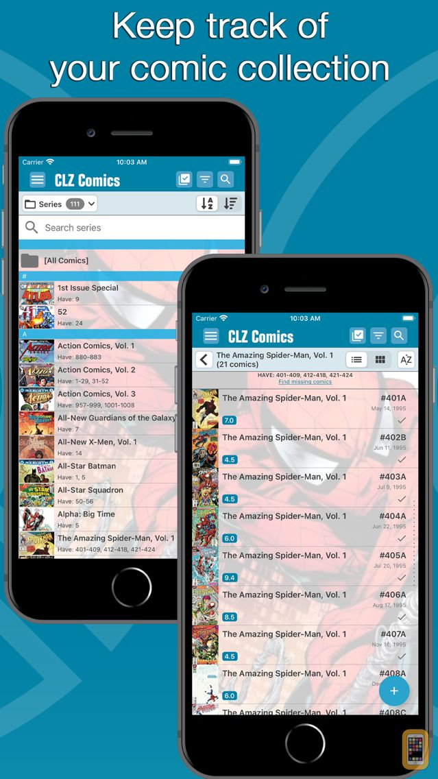 Screenshot - CLZ Comics - Comic Database