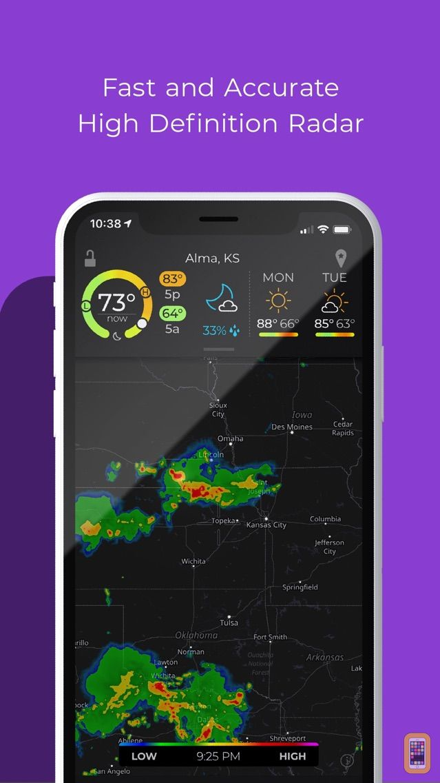 Screenshot - MyRadar NOAA Weather Radar Pro