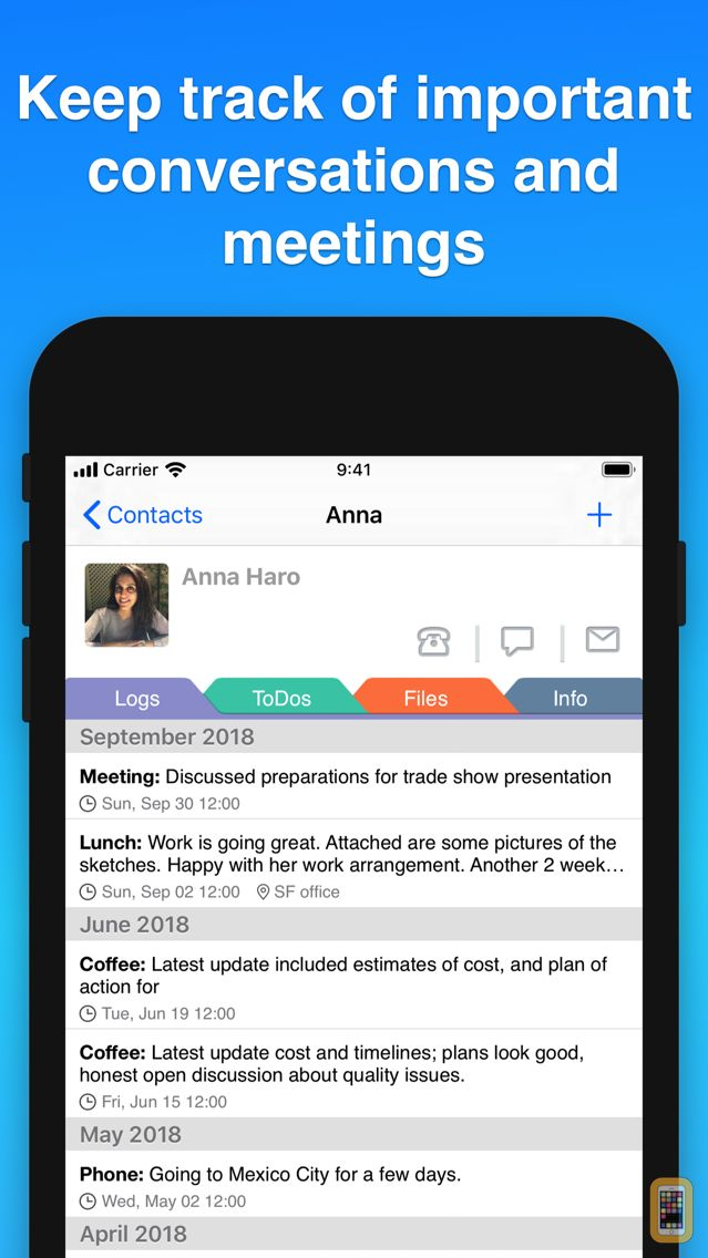Screenshot - Contacts Journal CRM