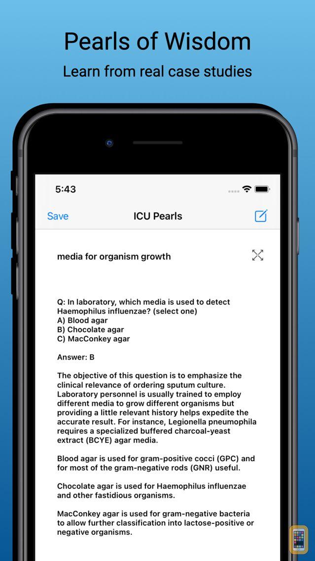 Screenshot - ICU Pearls Critical Care tips for doctors, nurses